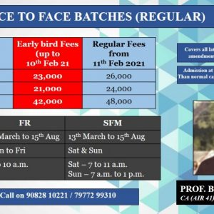 FR + SFM New Course – Face to Face / Live – Regular Batch