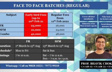 FR New Course I Face to Face / Live I Regular Weekday Batch