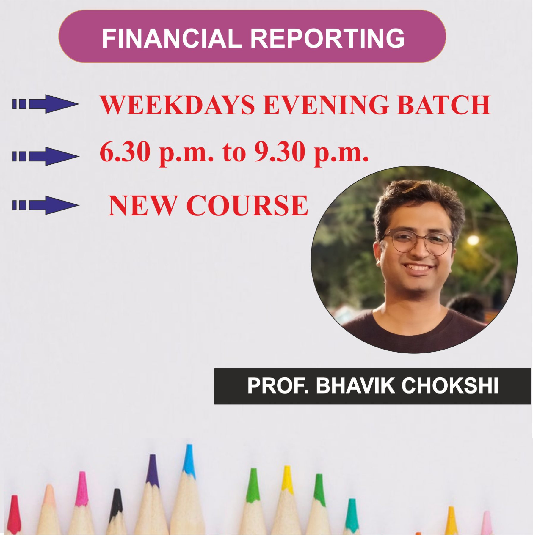 FR New Course – Regular Weekday Evening Batch