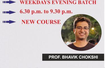FR New Course – Regular Weekday Evening Batch